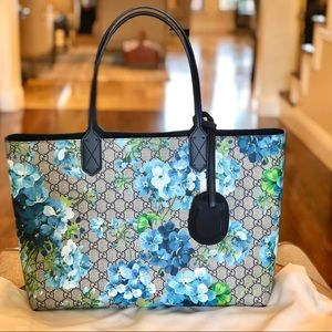 NEW Gucci Blue Bloom Reversible Tote
